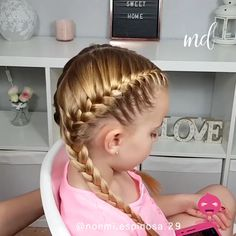 how to french braid Such easy hairstyles are always welcomed! Cute Hairstyles For Medium Hair, French Braid Hairstyles, Baby Girl Hairstyles, Easy Hairstyles For Medium Hair For School, Little Girl Short Hairstyles, Sport Hairstyles, Wedding Hairstyles, Medium Hair Braids, Princess Hairstyles