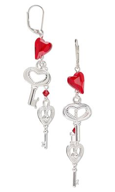 Jewelry Design - Earrings with Swarovski Crystal Beads and Silver-Plated ''Pewter'' Charms - Fire Mountain Gems and Beads