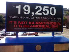 """'Islamorealism' Ads Go Up In Metro-North Stations In Westchester. The Defense Initiative is led by blogger and political activist Pamela Geller. She said its message is it's not """"Islamophobic' to oppose jihad terror.""""    """"The ad is just stating a fact. There have been well over 19,000 jihadi attacks since 9/11,"""" she told 1010 WINS. """"People need to know this. Obviously, everybody is surprised by this number."""