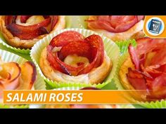 How to make Salami Roses - YouTube