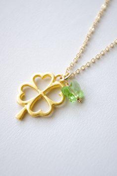 Clover Necklace Four Leaf Clover Lucky