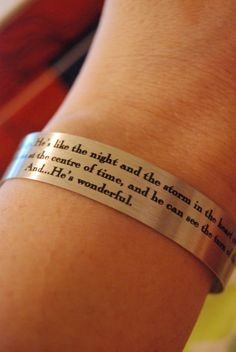 Doctor Who  He's Wonderful Bracelet by piperandrory on Etsy, $5.00