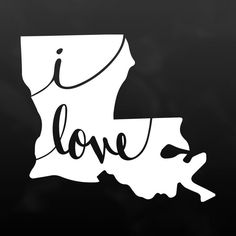 "Show your love for Louisiana with this white vinyl decal. Stick it on your car, laptop, phone, or anywhere! It's water-resistant and easy to apply! - Sizes: 5"" to 8"" - Colors: Soft Pink, Bright Pink,"