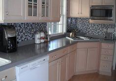 Big Back Splash! Kitchen Backsplash- it's not tile it's a DECAL!