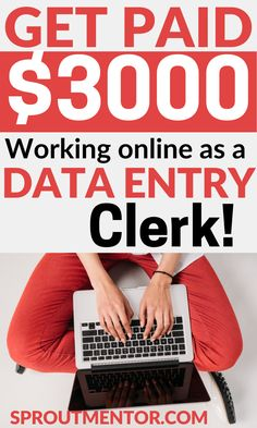 Check out these data entry jobs which will allow you to work from home and still make money online every month. Data entry is a lucrative online job for people looking for side jobs to make extra money with. Work From Home Careers, Work From Home Companies, Legitimate Work From Home, Online Work From Home, Work From Home Opportunities, Work From Home Tips, Employment Opportunities, Earn Money From Home, Make Money Online