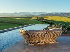 Outdoor Sofa mit Polsterkissen Tigmi und stabilem Metallgestell