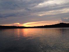 A beautiful sunset at lake skiatook. Taken by me.