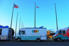 SoHo Taco's truck parked at one of our favorite places in OC, The OC Fairgrounds!