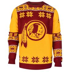 Washington Redskins Big Logo Ugly Crew Neck Sweater from UglyTeams