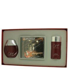 Gift Set -- 3.4 oz Fine Cologne Spray + 2.6 oz Deodorant Stick + Carlos Santana Live CD