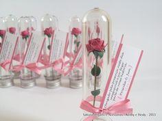 Mini rosa de origami no tubo pet - Sakura Origami & Acessórios