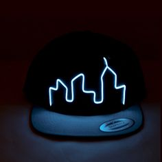 glow in the dark say no more #need  El Wire Snapback Blue City Hat  Perfect for by LightItUpClothing, $30.00