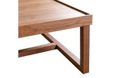 Connor Square Coffee Table, Walnut
