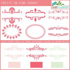 Pretty in Pink Frames
