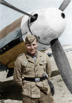 ✠Luftwaffe Ace and my favorite desert Ace Otto Schulz in North Africa .in1942 he got the nickname  (One-Two-Three Schulz) on how fast he would down enemy pilots in quick succession. Otto Schulz was credited with 51 victories in approximately 400 missions. He recorded three victories over the Eastern front and 48 victories over the Western front.including (28- P40 Tomahawks)
