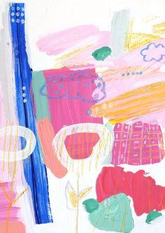 Abstract Art Work Clouds by Saffron Craig Fabrics Textile Design, Art Work, Original Artwork, Print Patterns, Abstract Art, My Arts, Clouds, Creative, Artist