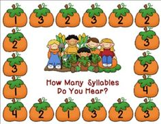Here you will find two cute Fall/Halloween phonemic awareness lessons for PK - 1.  The first game is a Halloween Word Count game to help students hear and count spoken words in a sentence.  The second game is a Fall Syllable Count.  This game is designed to help students hear and count syllables in a spoken word.These were designed by veteran kindergarten teacher Laura Donovan