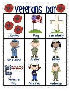 Veterans Day Unit for Young Learners $ What a FANTASTIC Unit!