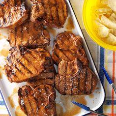 Pork Chops with Glaze.