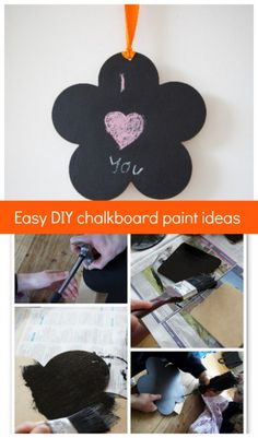 Easy DIY Chalkboard ideas - simple enough to make with the kids. They make great Christmas gifts for family and friends.