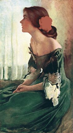 The Green Gown by John W. Alexander (1856–1915). It appeared in Century magazine, September 1905. ~via TI Grp, FB