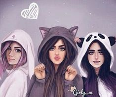 girly_m, friends, and drawing image Best Friends Cartoon, Friend Cartoon, Best Friend Drawings, Girly Drawings, Stylish Girls Photos, Stylish Girl Pic, Girly M Instagram, Lovely Girl Image, Cute Girl Drawing