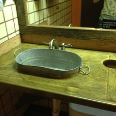 Washtub Sink At Codys Road House