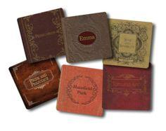 Jane Austen book coasters.