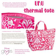 thirty-one, 31, U R U Thermal Tote to help the Thirty One Gives Foundation...