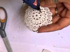 ▶ Shabby Chic Doily Flower Tutorial - jennings644 - YouTube