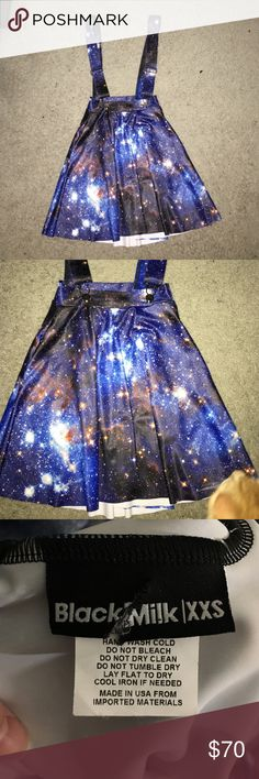 Blackmilk GALAXY BLUE PINAFORE POCKET SKATER SKIRT Worn once. Bought at sample sale. GALAXY BLUE PINAFORE POCKET SKATER SKIRT . Size XXS. Blackmilk Skirts Mini