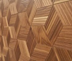 "Finium Konsept - ""Skwair"" (Walnut) wood wall panel"