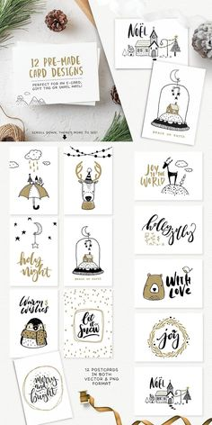 40% Off! Merry & Bright design kit by Lisa Glanz on @creativemarket #sale #ad #christmas #illustrations