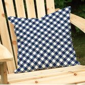 Found it at Wayfair - Gingham Outdoor Throw Pillow
