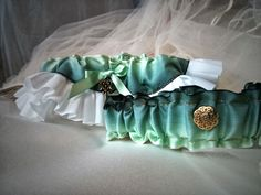 Key to My heart Wedding Garter Set by LAMBridalAccents on Etsy, $24.99