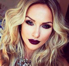 her makeup is so intense. love it.