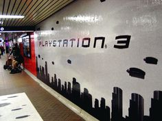 Playstation 3 Yonge + Eglinton station invasion. by hfabulous