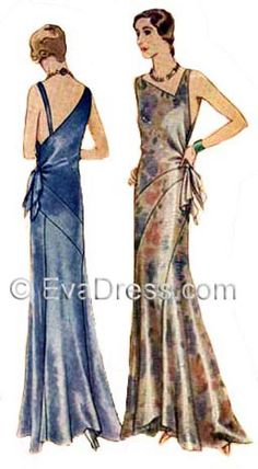 """1930 Evening Gown Vionnet-esque! 32"""" to 36"""" bust by EvaDress on Etsy"""