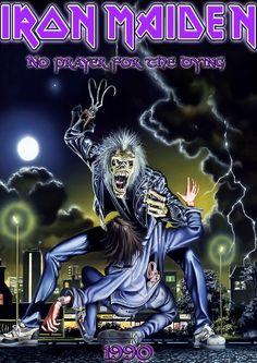 Iron maiden eddie qui tue un petit garçon XD Iron Maiden Album Covers, Iron Maiden Cover, Iron Maiden Albums, Bruce Dickinson, Heavy Metal Bands, Woodstock, Iron Maiden Posters, Eddie The Head, Rock Y Metal