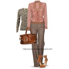 Work Outfit (minus the sweater because NO to animal print)