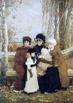 Autumn along the sea, 1878 ~ George Henry Boughton (1833-1905)
