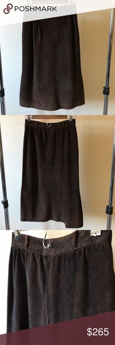 d1834086b3e Vintage GUCCI brown suede 1970s era aline skirt Fully lined Professionally  cleaned there is a little