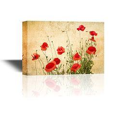 wall26 - Canvas Wall Art - Red Poppy Flowers on Vintage A... https://www.amazon.com/dp/B01NH0QDZ1/ref=cm_sw_r_pi_dp_x_h6nNybD5JE4SB