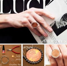 DIY Penny Ring....New DIY Ways To Invest Your Pennies. Oddly Beautiful Craft!! #diycrafts