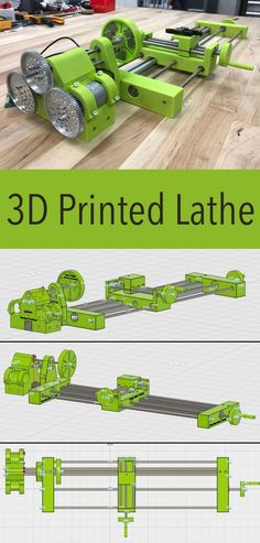 Printed Lathe Find how precise and accurate a printed lathe really is!Find how precise and accurate a printed lathe really is! Machine 3d, 3d Printing Machine, 3d Printing Diy, 3d Printing Business, 3d Printing Service, Lathe Machine, 3d Printer Designs, 3d Printer Projects, Cnc Projects