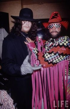 """The Undertaker and """"Macho Man"""" Randy Savage, Life Magazine photo....possibly one of the best photos ever"""