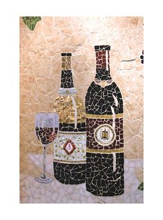Wine Mosaic.   Oh, I might have to try this.