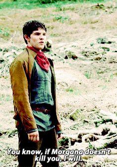 Merlin and Arthur banter (gif pair)