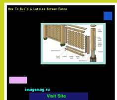 How To Build A Lattice Screen Fence 165445 - The Best Image Search