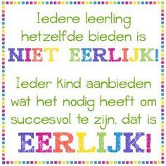 Leerstijlen - Ik leer in beelden I Love School, School Info, Teaching Quotes, Dutch Quotes, School Posters, School Quotes, School Hacks, Love My Job, Quote Posters